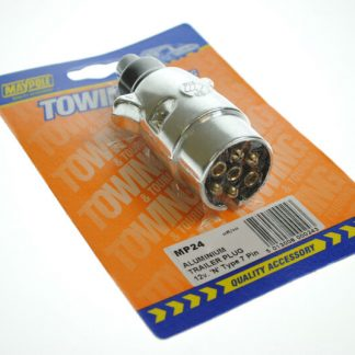 Tow Bar Electrics Single Lighting Socket with Audible Warning for Trailers